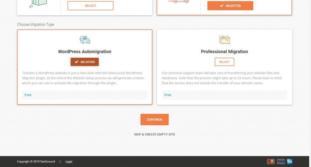 해외 웹호스팅 사이트그라운드 이전 서비스